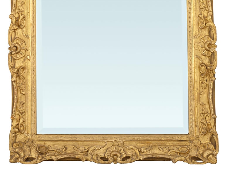 French Louis XV Period Gilt Mirror For Sale