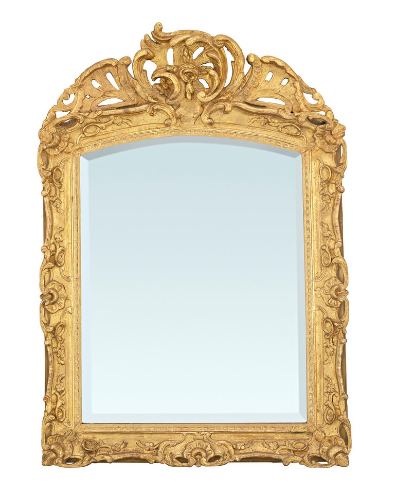 Louis XV Period Gilt Mirror In Excellent Condition For Sale In New Orleans, LA