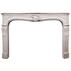 Louis XV Period Limestone Mantel, Mid-18th Century