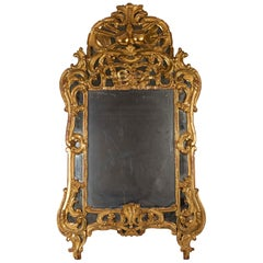 Louis XV Period Mirror, 18th Century, South of France, in Parcloses