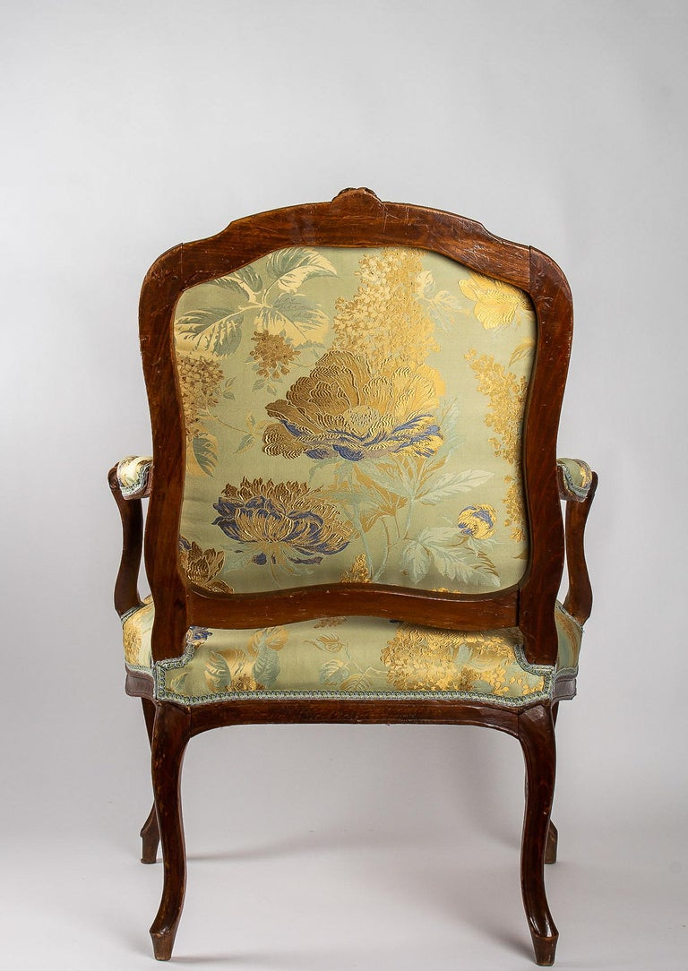 Louis XV Period Set of 4 of Large Armchairs, circa 1766-1770 by Louis Delanois For Sale 5
