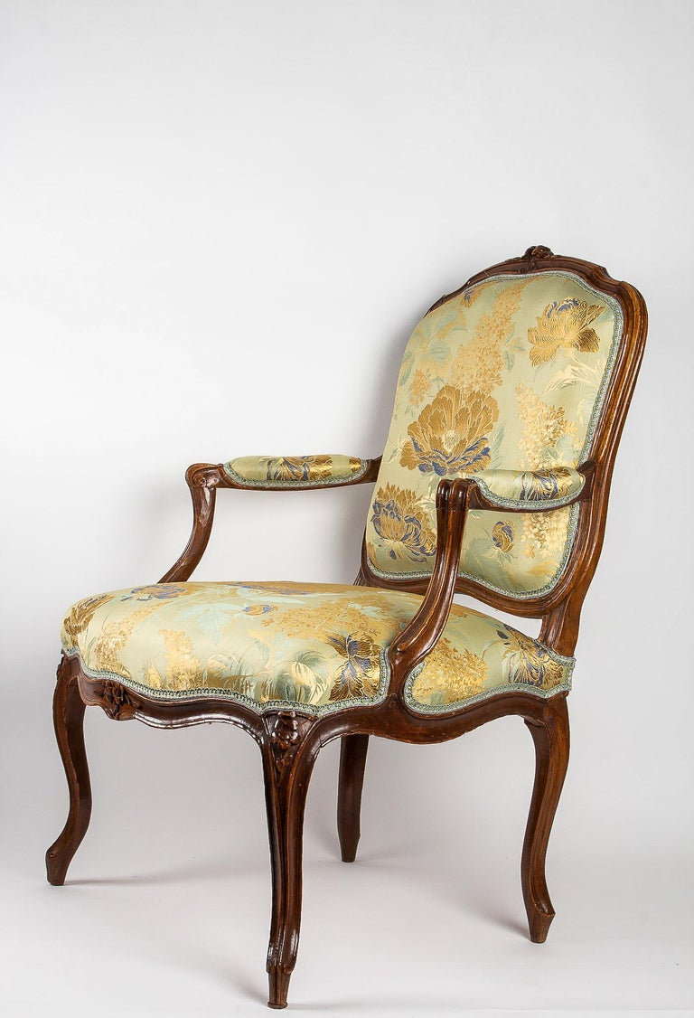 French Louis XV Period Set of 4 of Large Armchairs, circa 1766-1770 by Louis Delanois For Sale