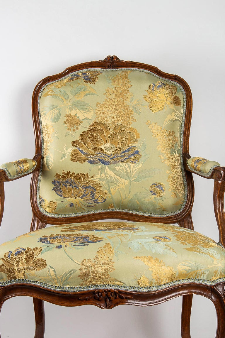 Mid-18th Century Louis XV Period Set of 4 of Large Armchairs, circa 1766-1770 by Louis Delanois For Sale