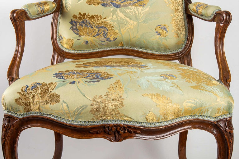 Louis XV Period Set of 4 of Large Armchairs, circa 1766-1770 by Louis Delanois For Sale 1