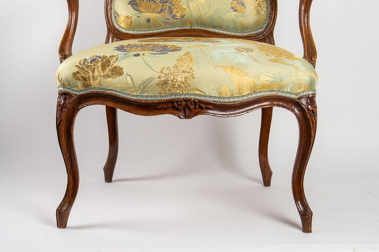 Louis XV Period Set of 4 of Large Armchairs, circa 1766-1770 by Louis Delanois For Sale 3