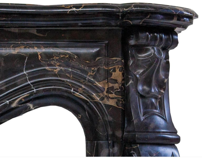French Louis XV Potoro Marble Fireplace Mantel For Sale