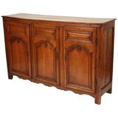 Louis XV Provincial Fruit Wood Enfilade