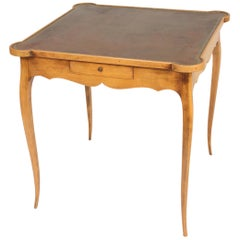 Louis XV Provincial Style Fruitwood Games Table