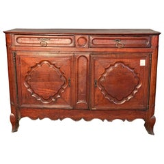 Louis XV Sideboard in Dark Walnut from French Provenance Dated 1775