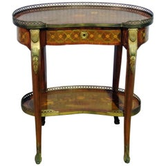 Louis XV Style Bronze Mounted End Table Manner of Maison Forest of Paris