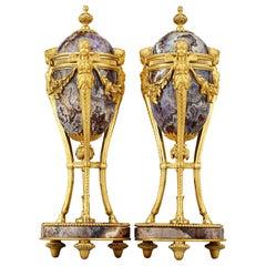 Louis XV Style Amethyst Cassolettes