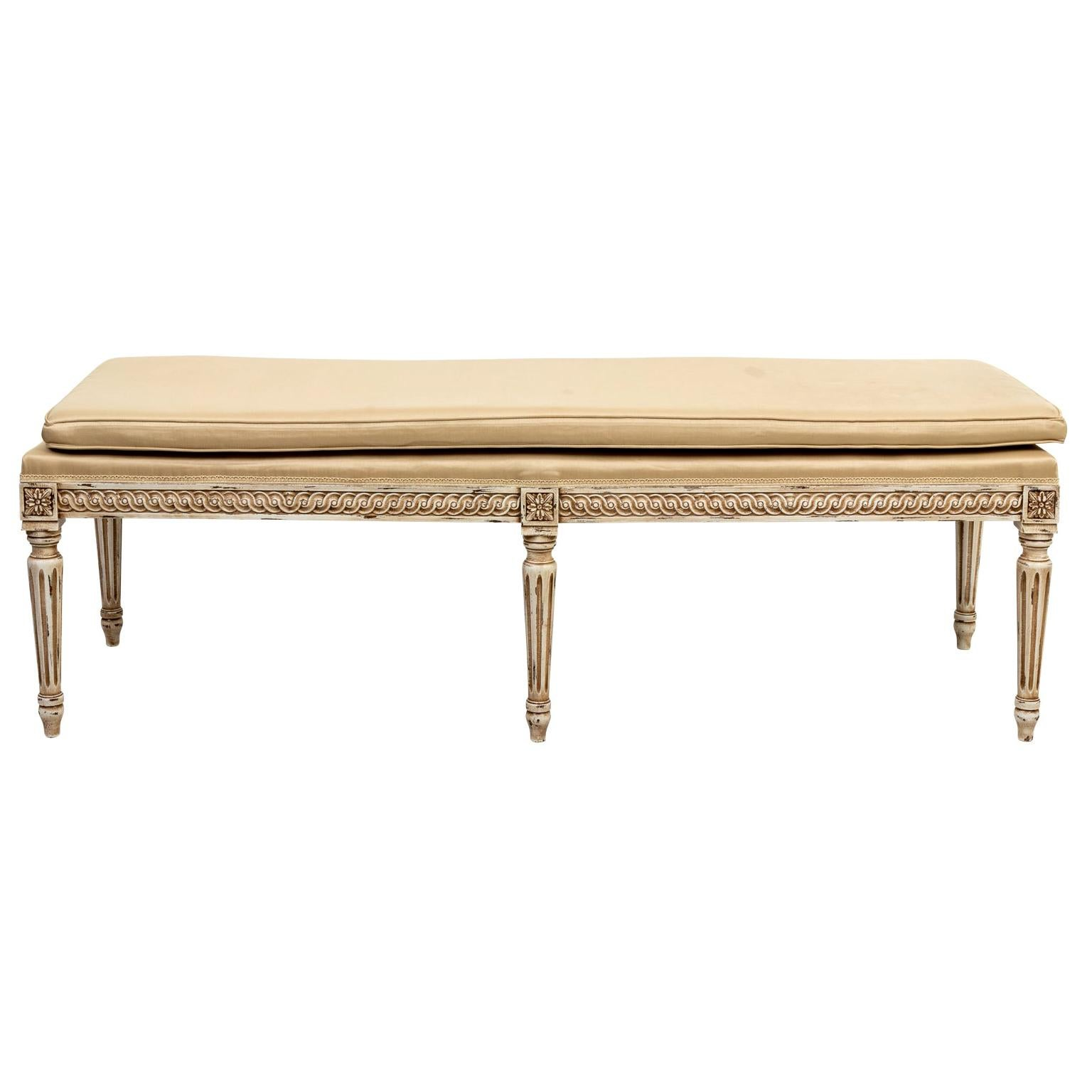 Contemporary Louis XV Style Carved Bench