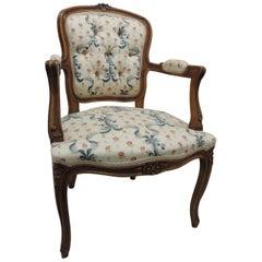 Louis XV Style Antique Petite Armchair