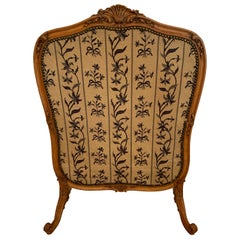 Louis XV Style Antique Upholstered Fireplace Screen
