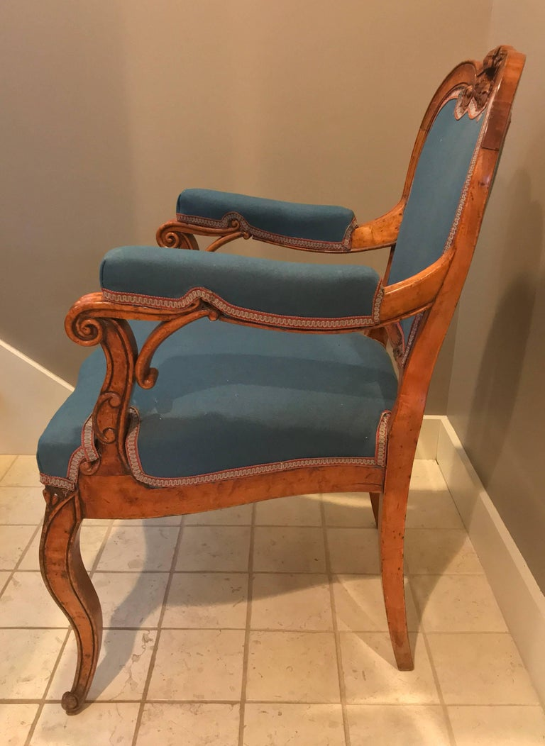 Louis XV Style Armchair, France, 19th Century For Sale 1