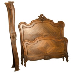 Louis XV Style Bed Frame, Palosanto, Early 20th Century