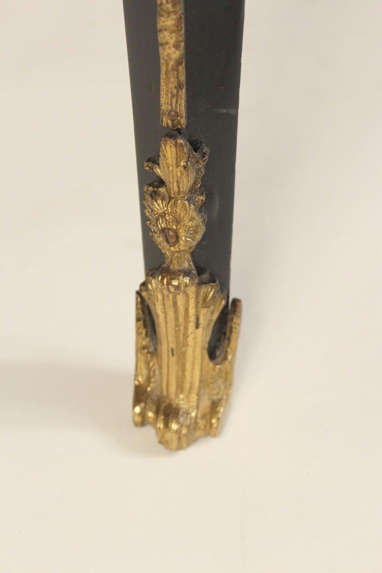 Louis XV Style Black Lacquer Desk with Gilt Bronze Mounts 7