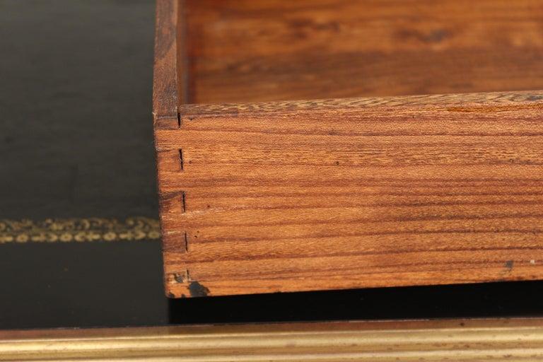 Louis XV Style Black Lacquer Desk with Gilt Bronze Mounts 9