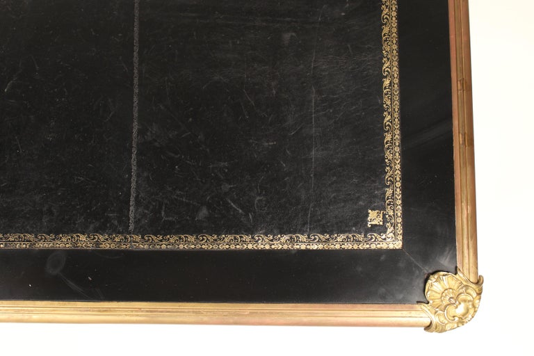 Louis XV Style Black Lacquer Desk with Gilt Bronze Mounts 1