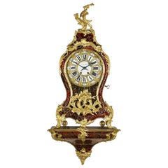 Louis XV Style Boulle Marquetry Clock, circa 1870