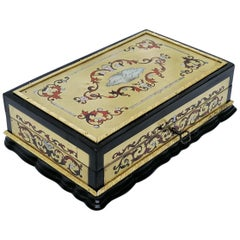 Louis XV Style Boulle Marquetry Jewelry Box, France, 1865