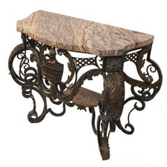 Louis XV Style Bronze and Patinated Metal Console Table