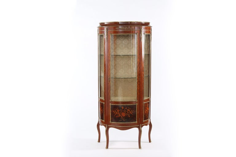Louis XV Style Bronze Mounted Display Cabinet For Sale 6