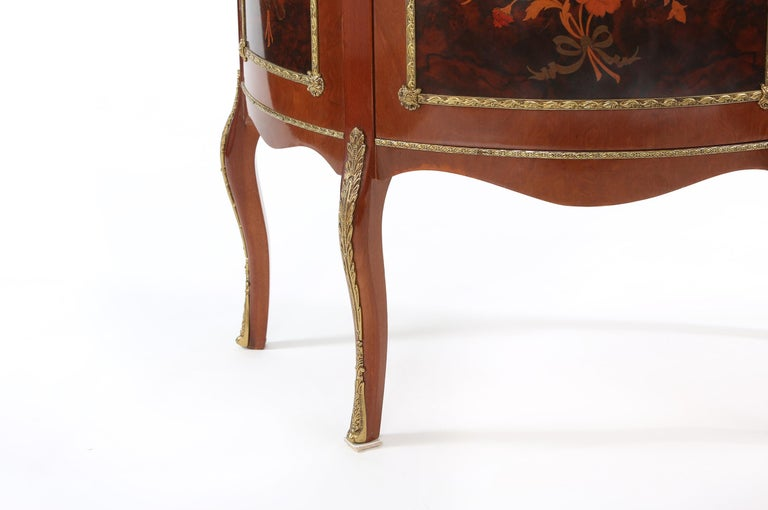 Louis XV Style Bronze Mounted Display Cabinet For Sale 1