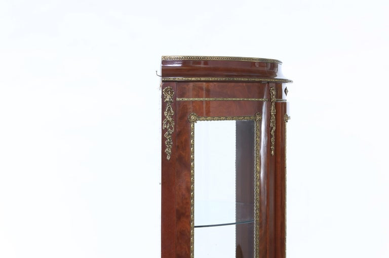 Louis XV Style Bronze Mounted Display Cabinet For Sale 2