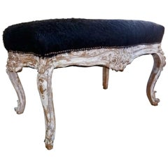 Louis XV Style Carved and Gessoed Bench