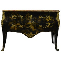 Louis XV Style Chinoiserie Chest of Drawers, Commode