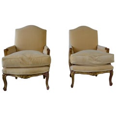 Louis XV Style Club Chairs Set of 2