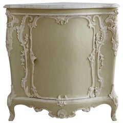 Louis XV Style Corner Cabinet Made by La Maison London with Carrara Marble Top