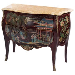 Louis XV Style Coromandel Commode with Marble Top