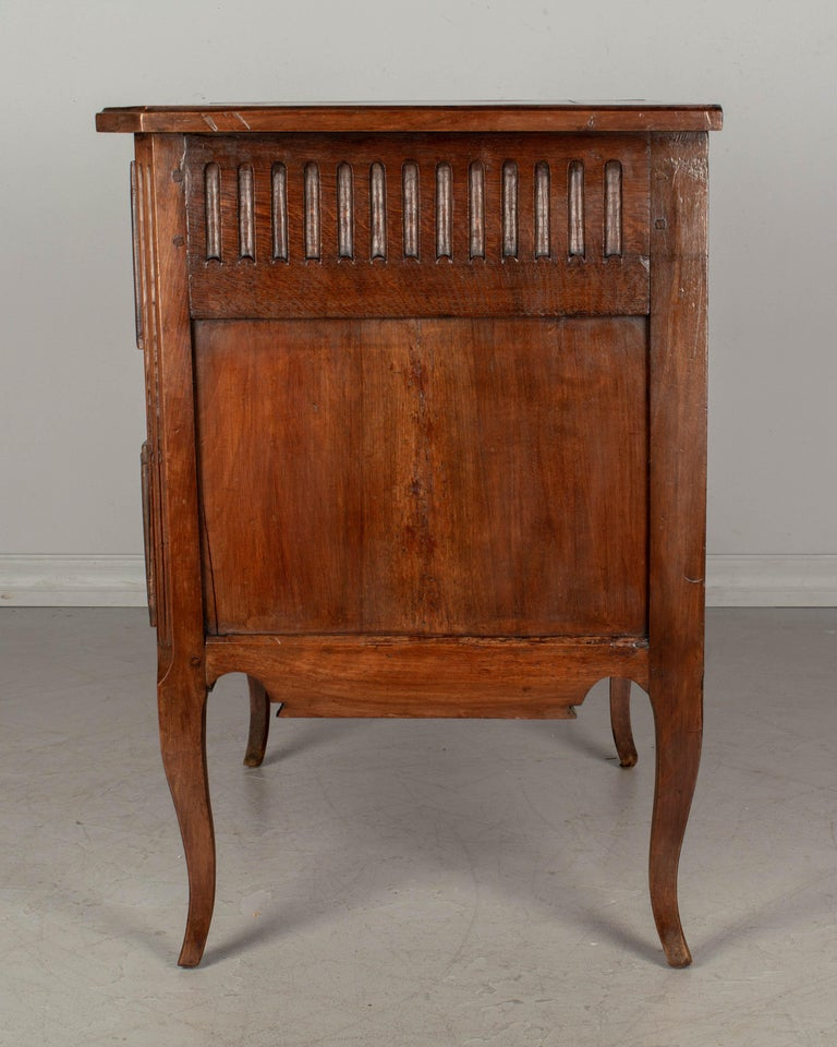 Walnut Louis XV Style Country French Commode For Sale