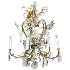 Louis XV Style Crystal and Brass Chandelier