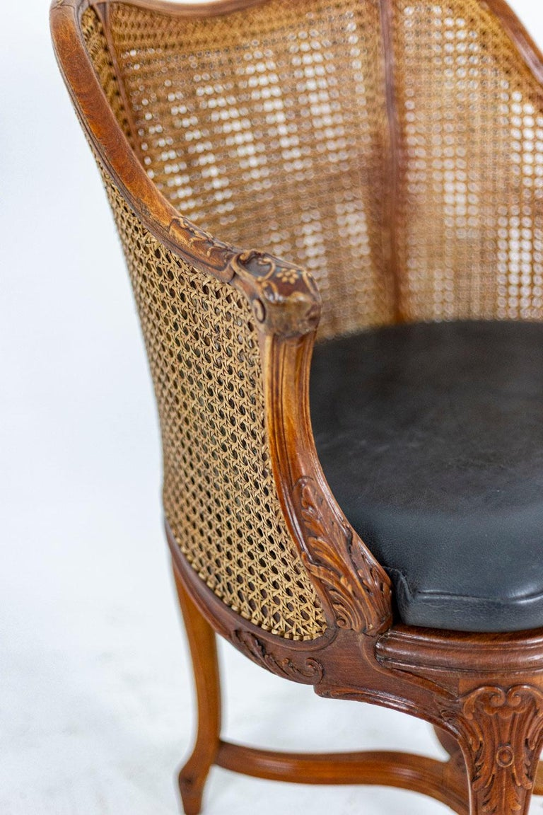 20th Century Louis XV Style Desk Chair in Beech, circa 1900s For Sale