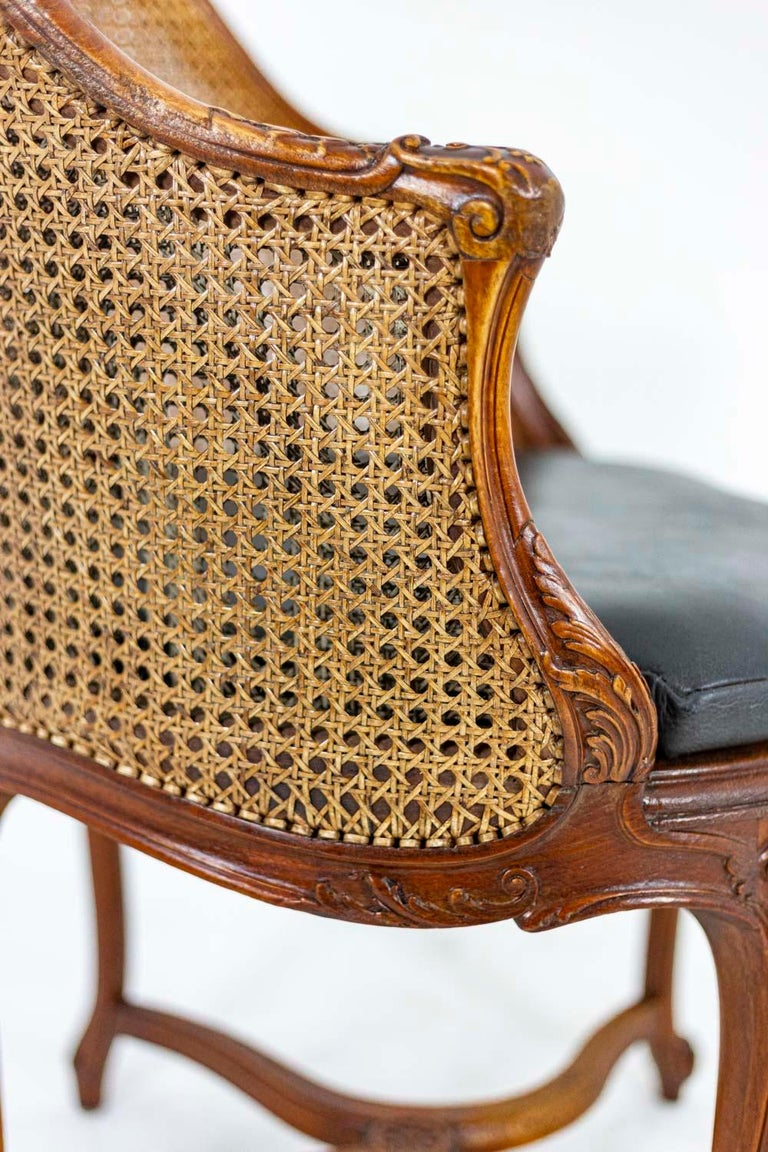 Louis XV Style Desk Chair in Beech, circa 1900s For Sale 2