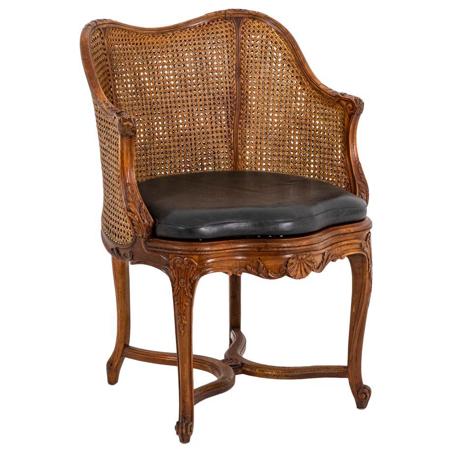 Louis XV Style Desk Chair in Beech, circa 1900s
