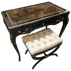 Louis XV Style Desk / Secretary with Neoclassical Stool