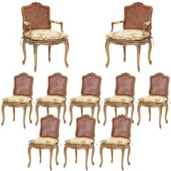 Louis XV Style Dining Chairs Set of 10