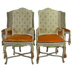 Louis XV Style Dining Chairs Set of 8