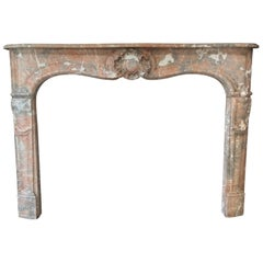 LOUIS XV-Style FIREPLACE Soft-toned Saint Rémy Marble