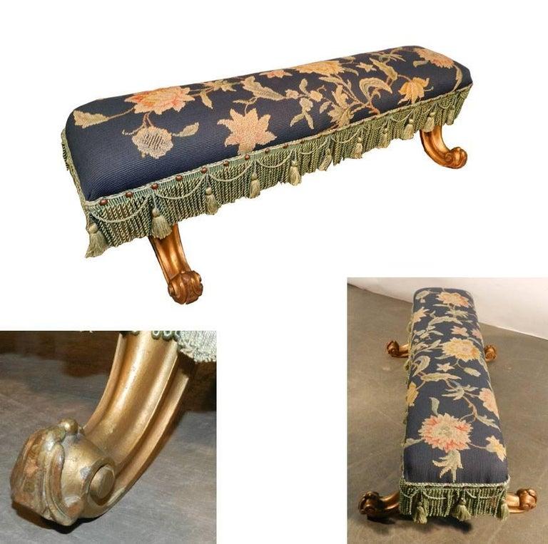 Louis XV style footstool, circa 1900-1930.