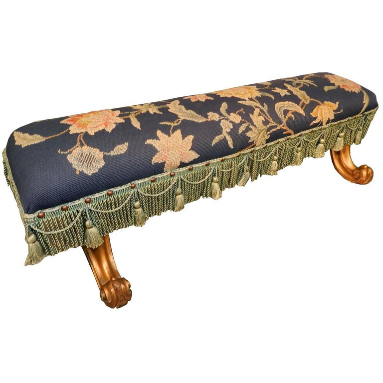 Louis XV Style Footstool, circa 1900-1930 For Sale
