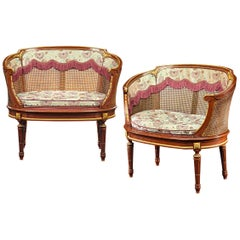 Louis XV Style French Caned Settees