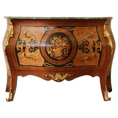 Louis XV Style French Commode in the Manner of Jean-François Oeben