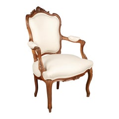 Louis XV Style French Fauteuil Armchair