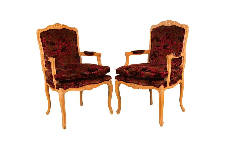 Louis XV Style French Provincial Century Furniture Dining Chairs For Sale 7