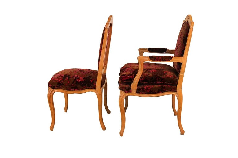 Louis XV Style French Provincial Century Furniture Dining Chairs For Sale 9
